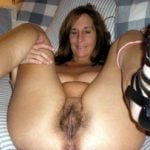 Wet Hairy Granny Showing Pussy