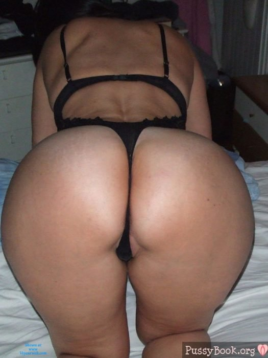 Big ass with thong