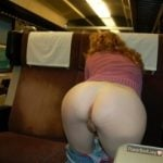 Woman Exposing Ass in Train