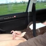 Woman Masturbating in Moving Car