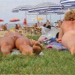 women camping nude
